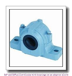 skf SAFS 22530 x 5.1/4 SAF and SAW pillow blocks with bearings on an adapter sleeve