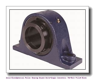 timken QAP13A208S Solid Block/Spherical Roller Bearing Housed Units-Single Concentric Two-Bolt Pillow Block