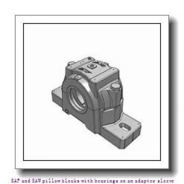 skf SSAFS 23024 KA x 4.1/8 SAF and SAW pillow blocks with bearings on an adapter sleeve