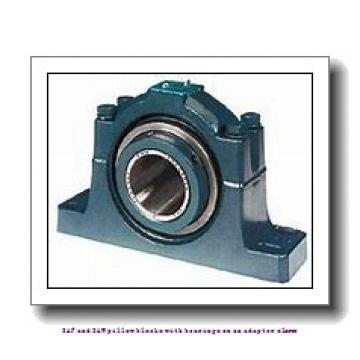 skf SAF 1613 x 2.1/4 T SAF and SAW pillow blocks with bearings on an adapter sleeve
