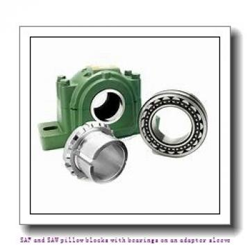 skf FSAF 23024 KAT x 4.1/4 SAF and SAW pillow blocks with bearings on an adapter sleeve