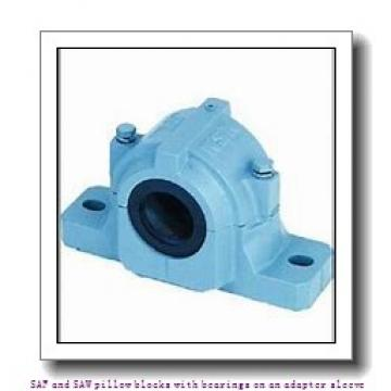 skf SAW 23530 x 5.1/4 TLC SAF and SAW pillow blocks with bearings on an adapter sleeve