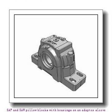skf SAF 1616 x 2.5/8 SAF and SAW pillow blocks with bearings on an adapter sleeve
