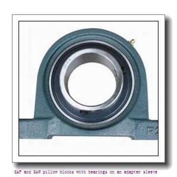 skf SAF 23048 KA x 8.7/16 SAF and SAW pillow blocks with bearings on an adapter sleeve