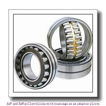 skf SAF 1522 x 3.7/8 SAF and SAW pillow blocks with bearings on an adapter sleeve