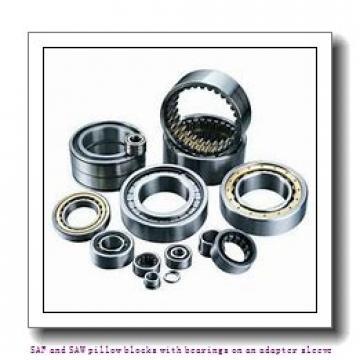 skf SAF 23056 KA x 10.7/16 SAF and SAW pillow blocks with bearings on an adapter sleeve