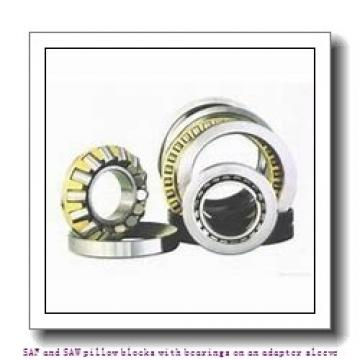skf SAF 22530 x 5.3/8 SAF and SAW pillow blocks with bearings on an adapter sleeve