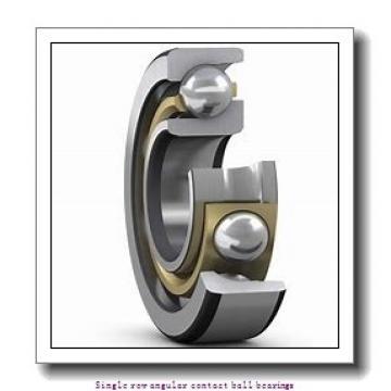 25 mm x 52 mm x 15 mm  skf 7205 BECBM Single row angular contact ball bearings