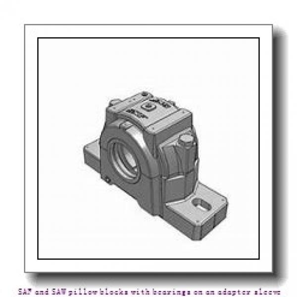 skf SAW 23524 x 4.1/4 SAF and SAW pillow blocks with bearings on an adapter sleeve #2 image