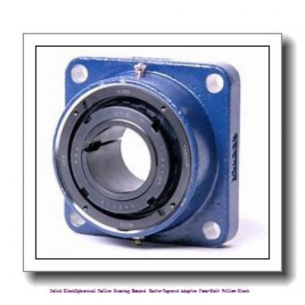 timken TAPG20K090S Solid Block/Spherical Roller Bearing Housed Units-Tapered Adapter Four-Bolt Pillow Block #1 image